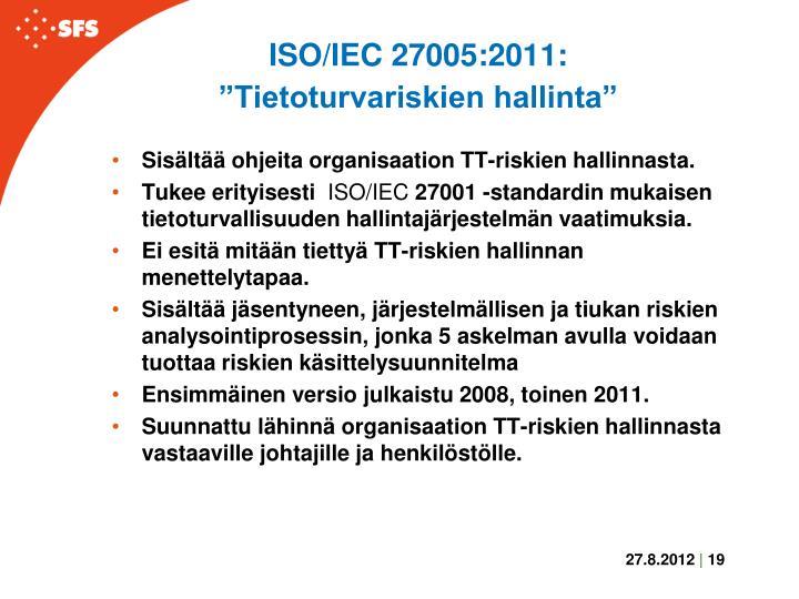 ISO/IEC 27005:2011: