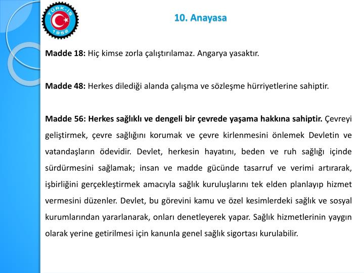 10. Anayasa