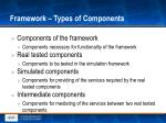 framework types of components