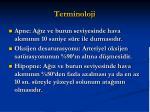 terminoloji