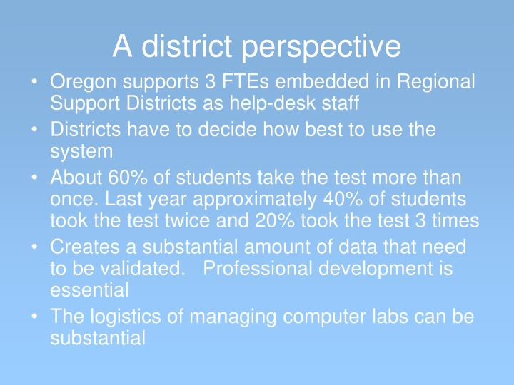 A district perspective