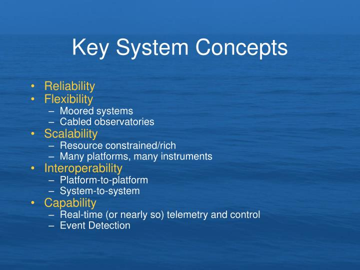 Key System Concepts