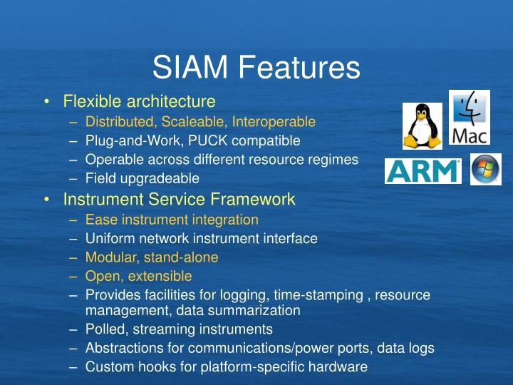SIAM Features