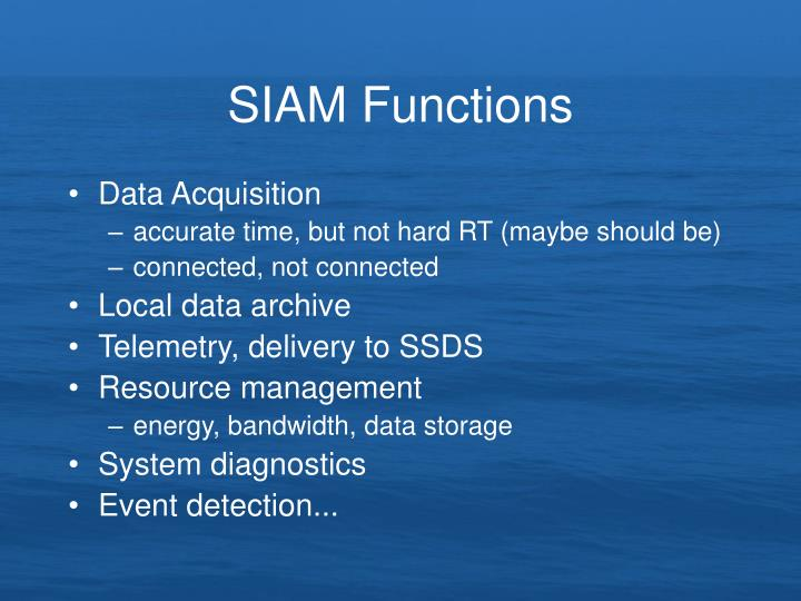 SIAM Functions