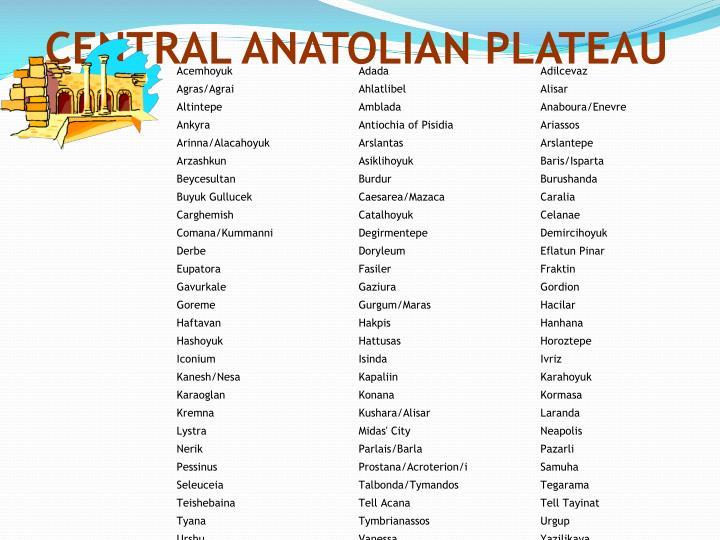 CENTRAL ANATOLIAN PLATEAU