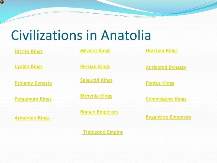 Civilizations in Anatolia