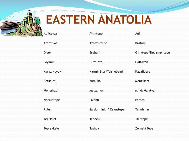 EASTERN ANATOLIA
