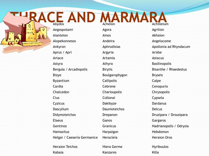 THRACE AND MARMARA