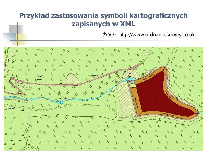 Przykład zastosowania symboli kartograficznych