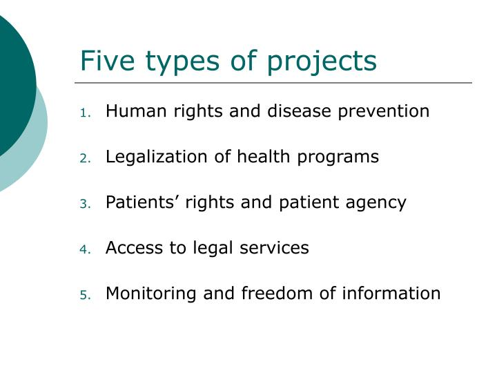 Five types of projects
