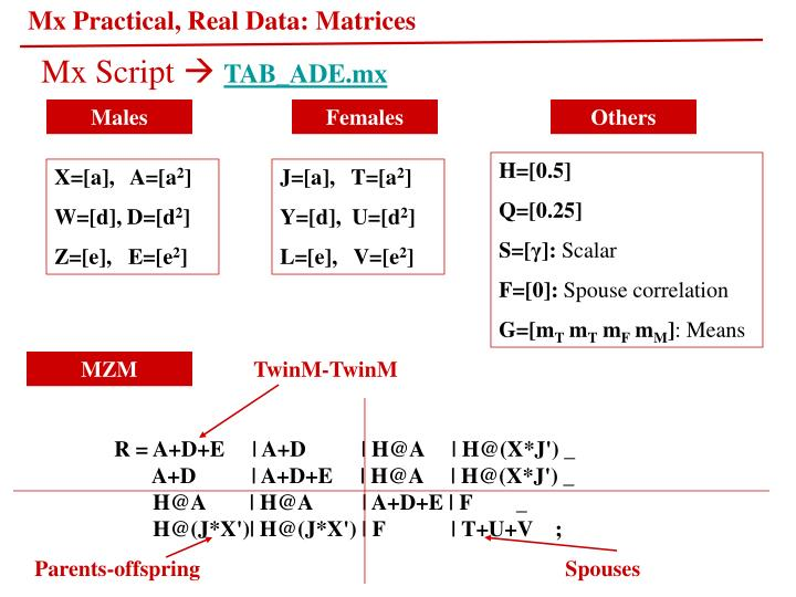 Mx Practical, Real Data: Matrices