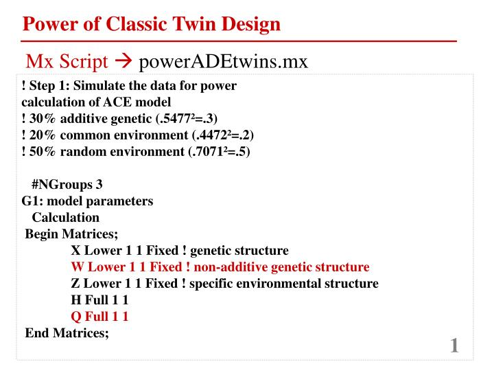 Power of Classic Twin Design