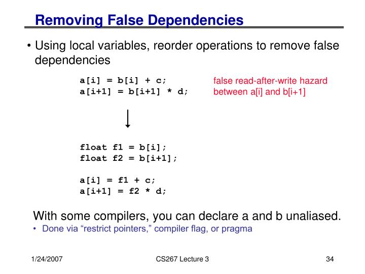 Removing False Dependencies