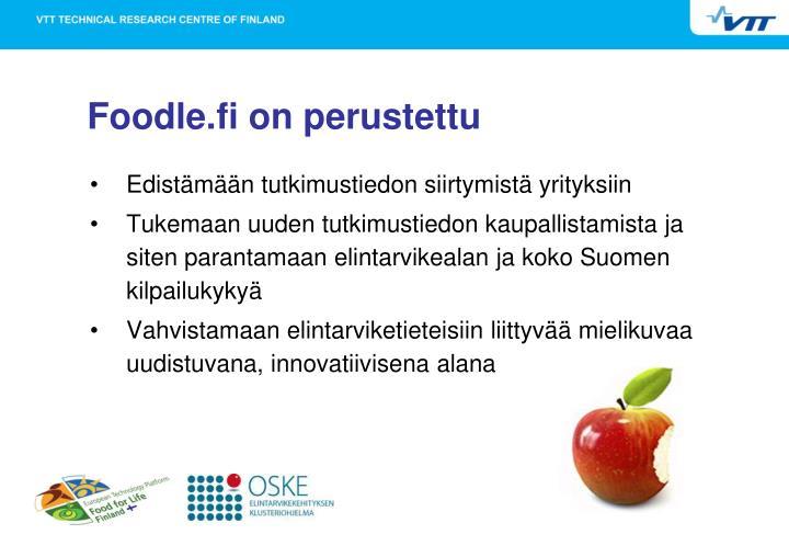 Foodle.fi on perustettu