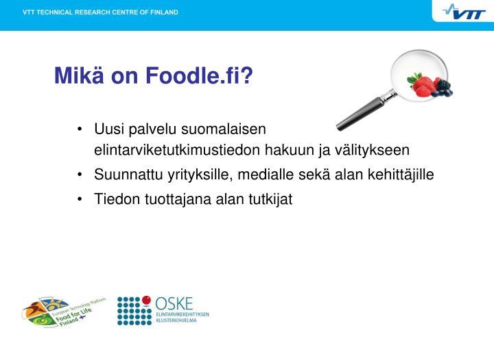 Mikä on Foodle.fi?