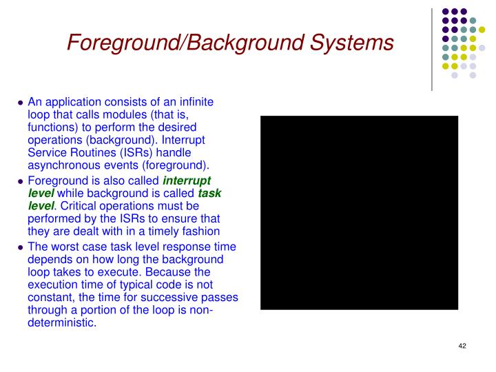 Foreground/Background Systems