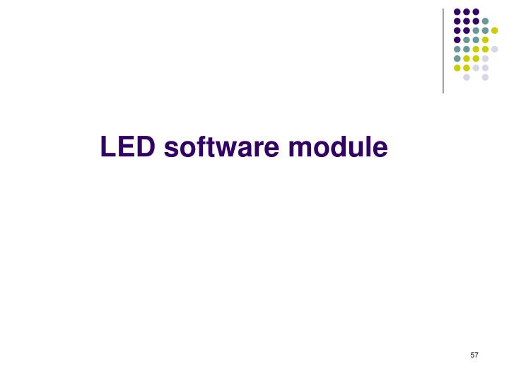 LED software module