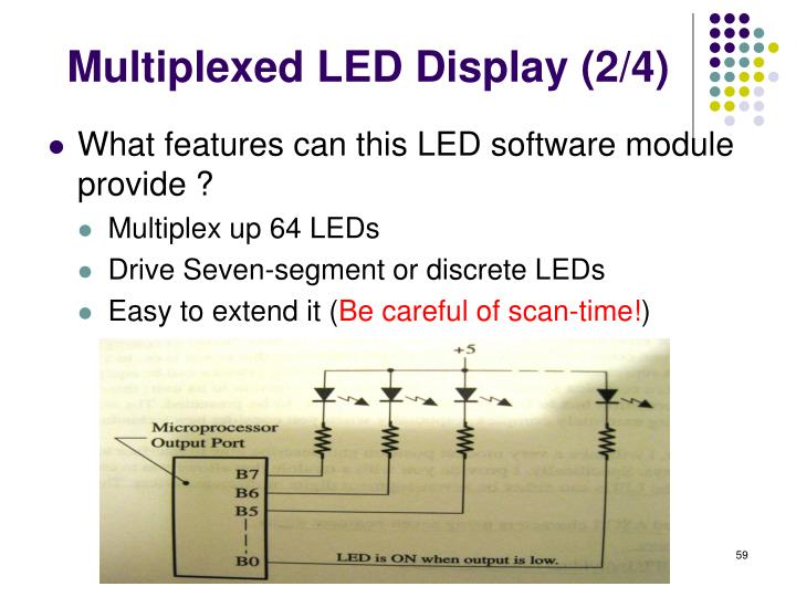 Multiplexed LED Display (2/4)