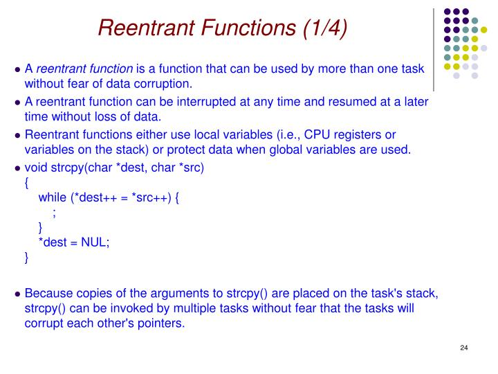 Reentrant Functions (1/4)