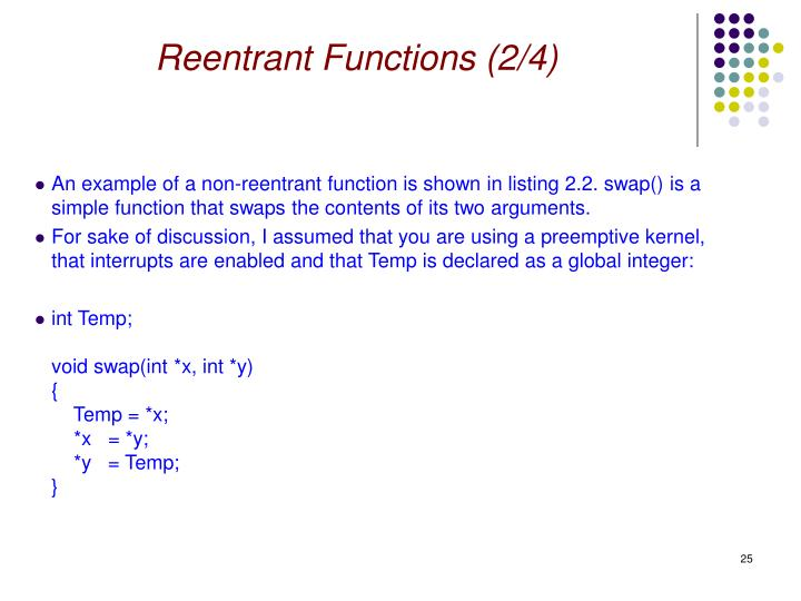 Reentrant Functions (2/4)