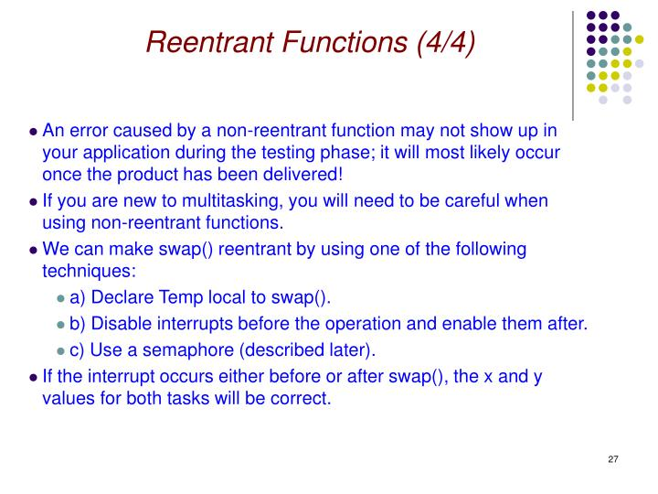Reentrant Functions (4/4)