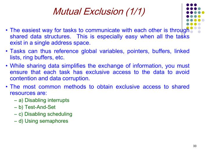 Mutual Exclusion (1/1)