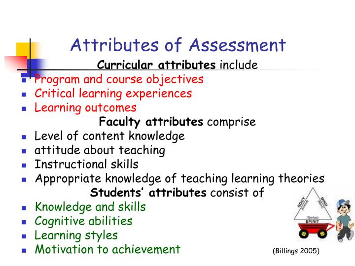 Attributes of Assessment