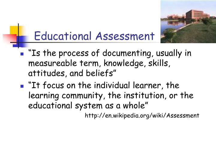 Educational Assessment