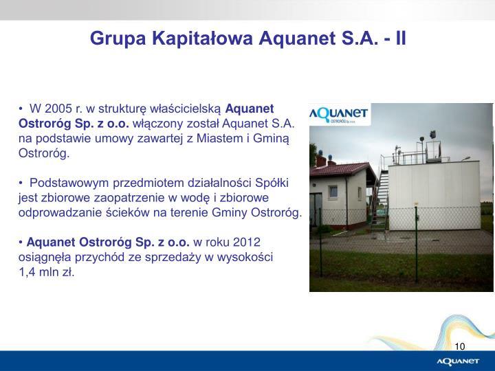 Grupa Kapitałowa Aquanet S.A. - II