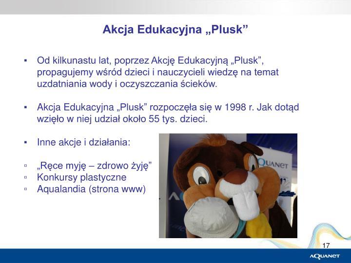 """Akcja Edukacyjna """"Plusk"""""""