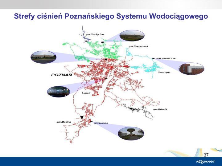 Strefy ciśnień Poznańskiego Systemu Wodociągowego