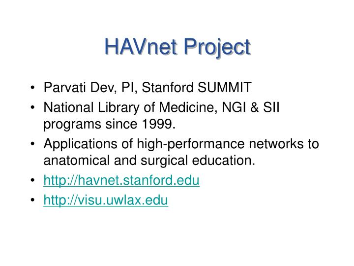 Havnet project