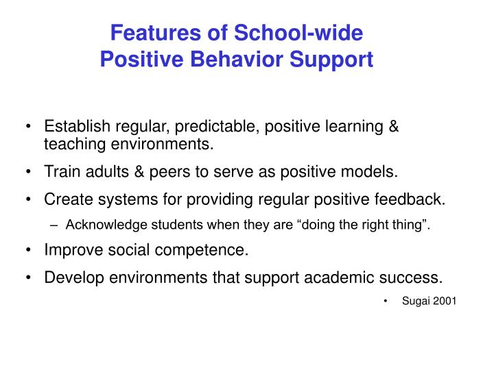 Features of School-wide