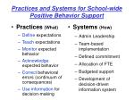 practices and systems for school wide positive behavior support1