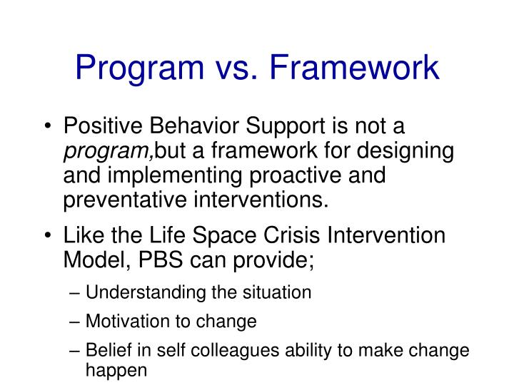 Program vs. Framework
