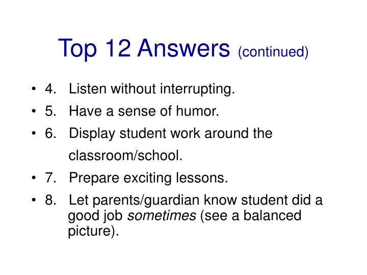 Top 12 Answers
