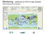 monitoring platforms on gts 3 day window http www osmc noaa gov