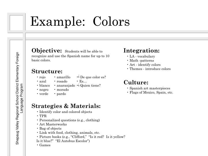 Example:  Colors