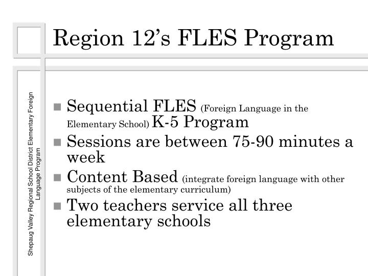 Region 12's FLES Program