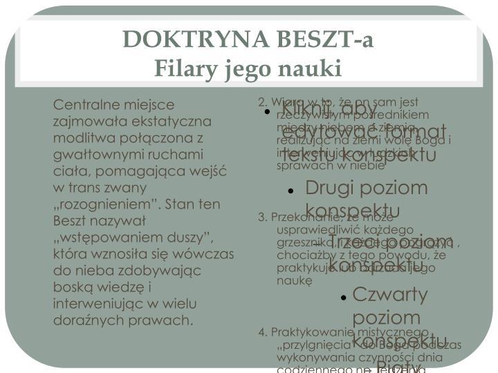 DOKTRYNA BESZT-a