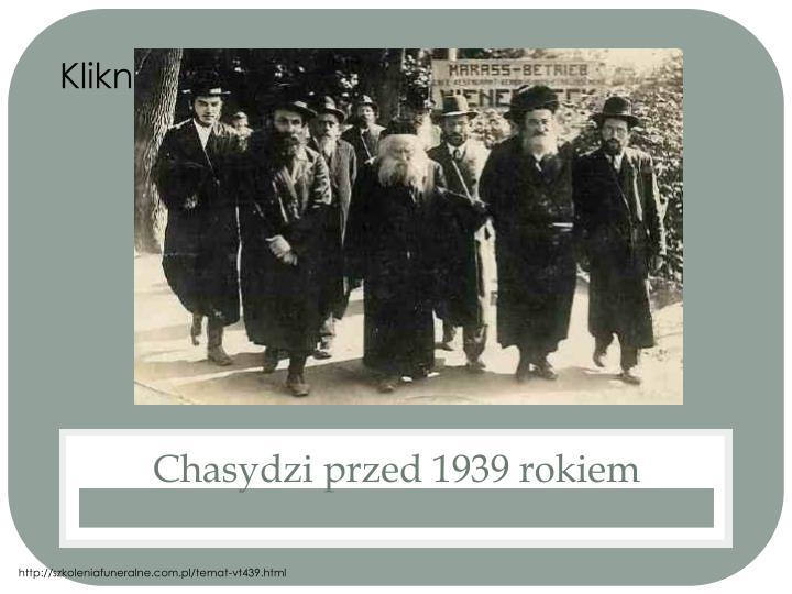 Chasydzi przed 1939 rokiem