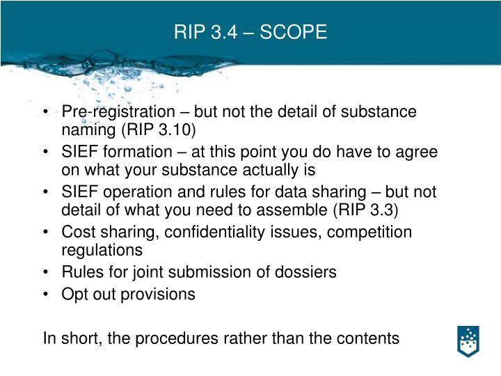 RIP 3.4 – SCOPE