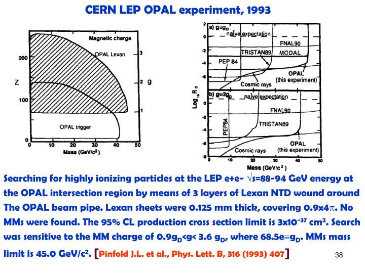 CERN LEP OPAL experiment, 1993