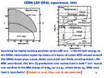 cern lep opal experiment 1993