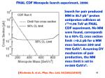fnal cdf monopole search experiment 20061