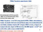 fnal tevatron experiment 1990