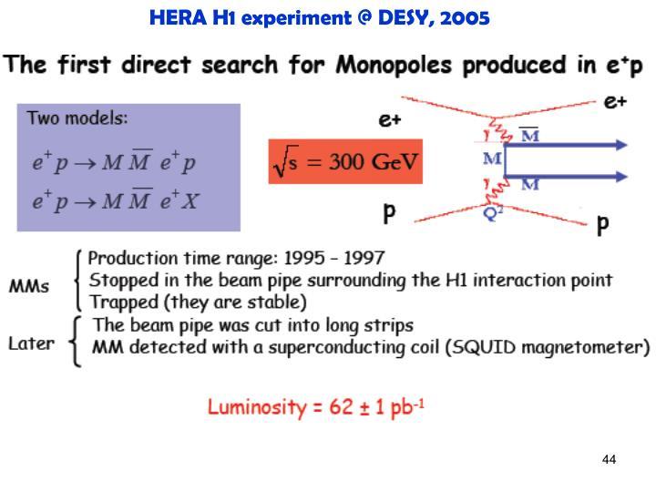 HERA H1 experiment @ DESY, 2005