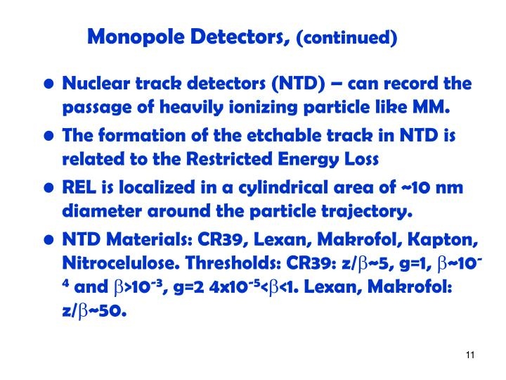 Monopole Detectors,
