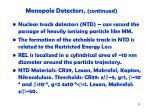 monopole detectors continued1