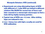 monopole detectors ntd continued1